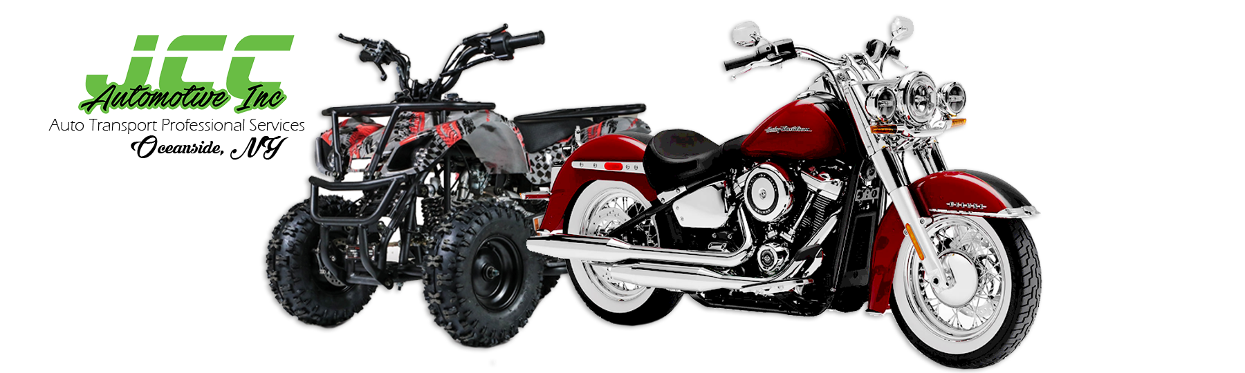 JCC Automotive Inc. | Motorcycle & ATV Transport Professional Services, 3 New Street, Oceanside, Long Island, NY, 11572 | PHONE: 516-287-4189, FAX: 516-599-8206